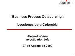 BPO: lecciones para Colombia
