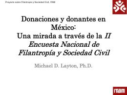 III. Donaciones a organizaciones formales