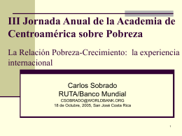 III Jornada Anual de la Academia de Centroamérica sobre Pobreza