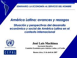 America Latina avances y rezagos CEPAL