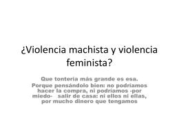 hablando de todas las violencias sexistas