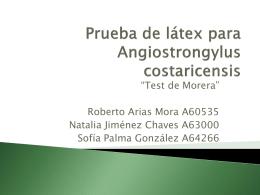 Prueba de látex para Angiostrongylus costaricensis