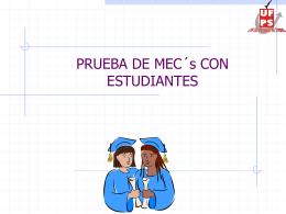 Presentación 11 - Prueba de MECs con estudiantes