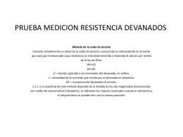 PRUEBA MEDICION RESISTENCIA DEVANADOS