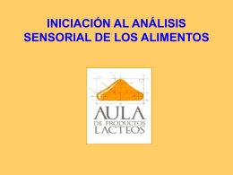 INICIACIÓN AL ANÁLISIS SENSORIAL DE LOS ALIMENTOS