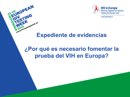Pruebas del VIH - European HIV