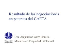 Resultados de las negociaciones en patentes del CAFTA