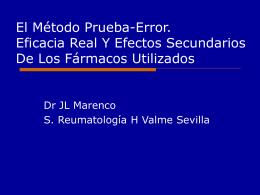 El Método Prueba Error. Eficacia Real Y Efectos