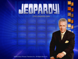 Jeopardy Game for chapter 4.2