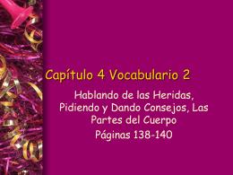 Capítulo 4 Vocabulario 1