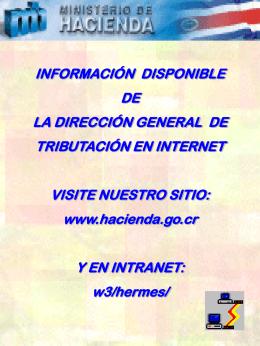 Información disponible de la dirección general de tributación en