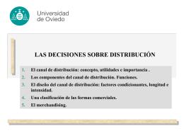DECISIONES SOBRE DISTRIBUCIÓN: DISEÑO Y