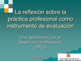 La reflexión sobre la práctica profesional como instrumento