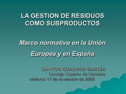 1 Políticas sobre Residuos - Cambra de Comerç de Mallorca
