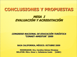 i conclusiones eval y acred 09
