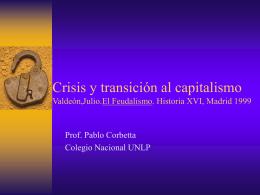 Crisis y transición al capitalismo