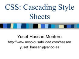 Diseño Web: CSS - No Solo Usabilidad