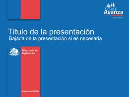 I. Título de la presentación
