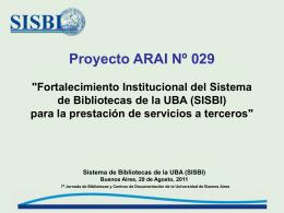 Diapositiva 1 - Sistema de Bibliotecas y de Información