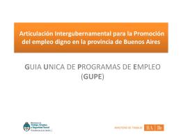Guía Única de Programas de Empleo (GUPE)