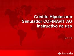 Captura en el simulador COFINAVIT AG