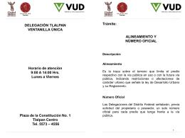 Tramites VUD - Delegación Tlalpan