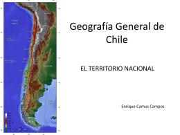 GEOGRAFÍA GENERAL DE CHILE. EL TERRITORIO NACIONAL