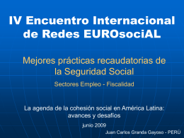 Mejores prácticas recaudatorias de la Seguridad Social