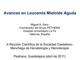 Avances en Leucemia Mieloide Aguda