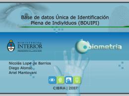 Base de datos Única de Identificación Plena de Individuos