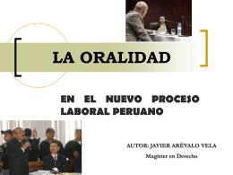 la teoría del caso en la nueva ley procesal del trabajo