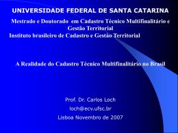 2 - A deficiência Cartográfica Brasileira