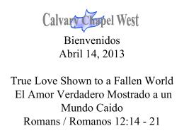 Romanos 12:14-16 - Calvary Chapel West