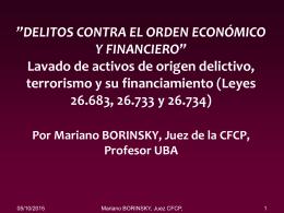 Lavado de activos reforma ley 26683 Rosario