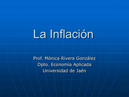 Inflación - Universidad de Jaén