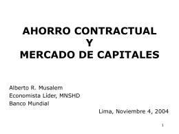 ahorro contractual y mercado de capitales