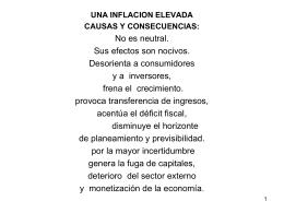Una inflación muy elevada - Fundación Buenos Aires XXI