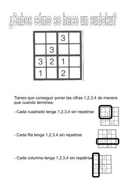 Sudokus - matematicas Ricardo Vazquez