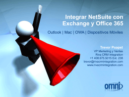 Integrar NetSuite con Exchange y Office 365