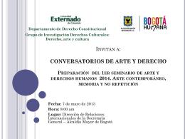 Conversatorio 7 de Mayo del 2013