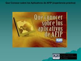 Que Conocer sobre los Aplicativos de AFIP (experiencia práctica)