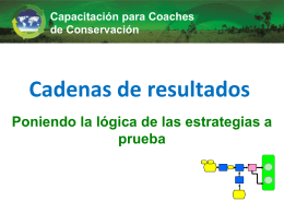 Cadena de Resultados - Conservation Measures Partnership