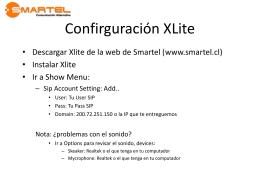 Ayuda para configurar cuenta en Softphone Xlite