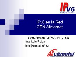 Implantación del protocolo IPv6 en la Red de la Ciencia