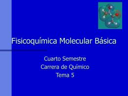Fisicoquímica Molecular Básica