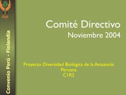 Proyecto Diversidad Biológica de la Amazonía Peruana C1R2