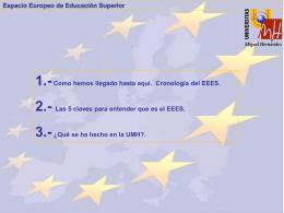 El EEES y la UMH (Presentación)