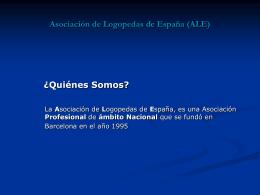 Asociación de Logopedas de España (ALE)
