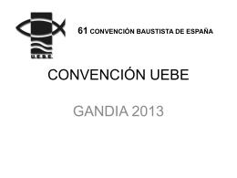 Convención UEBE 2013