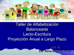 Objetivos Generales del Taller de Alfabetización